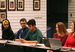 AVID students speak to the School Board
