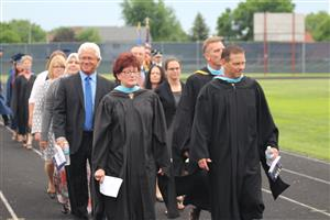 School Board, Superintendent and CHHS staff proceed to 2018 Commencement