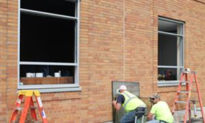 Columbia Academy windows being replaced