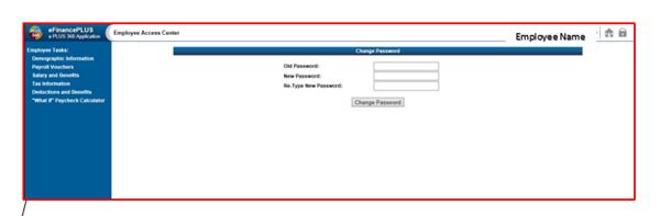 EAC password change
