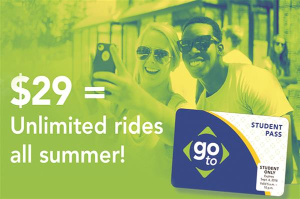CHHS Students: Get a summer's worth of rides on buses and light rail with a Summer Student Pass!