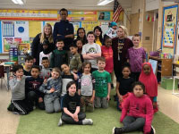 Columbia Academy Students Visit Highland for Reading Month
