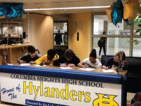 Columbia Heights High School Students Sign Letters of Intent