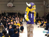 Viktor the Viking Visits Valley View on Quest to S.T.O.P Bullying